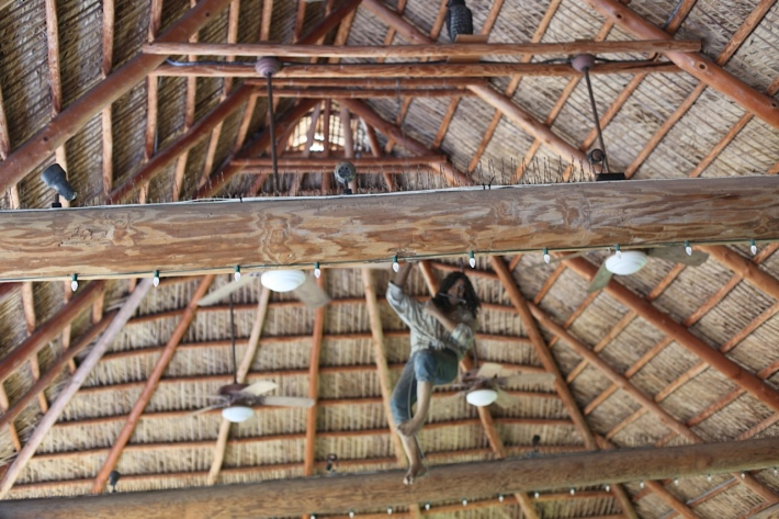 Chickee-hut style roof over Old Key Lime House