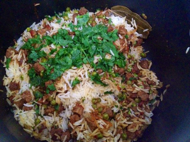Biryani with Soy and Green Peas1